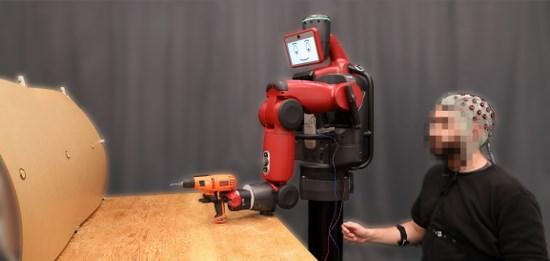 麻省理工开发出新型界面系统:可用意念控制机器人