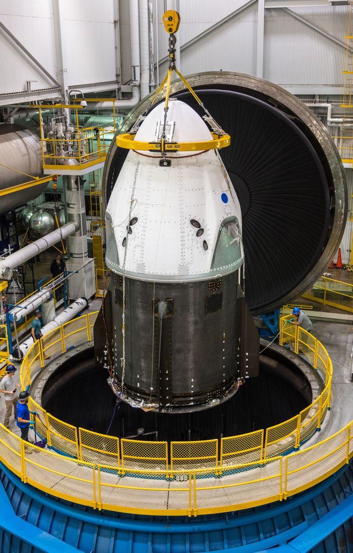 NASA正测试SpaceX的Crew Dragon载人飞船 未来将人类送上太空