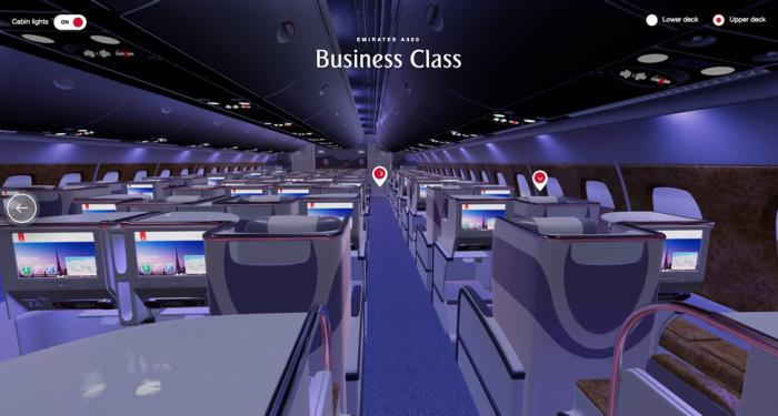 阿联酋航空官网推出VR体验 让用户在飞机上闲逛和订票