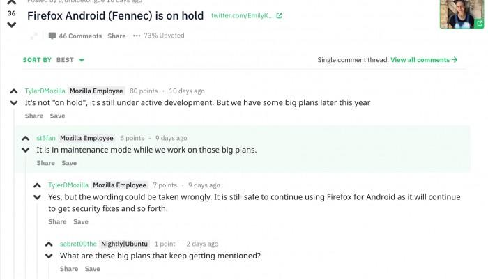 Firefox Android进入维护模式 开发团队透露在憋大招