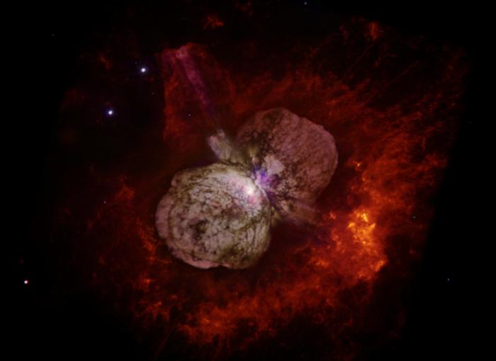 """研究称双星系统非常""""暴力"""" 像""""宇宙射线枪""""一样向地球发射粒子"""
