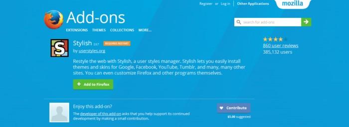 因窃取用户数据 Stylish从Firefox与Chrome下架