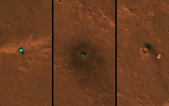 火星勘测轨道飞行器传回了洞察号探测器的着陆地点照片