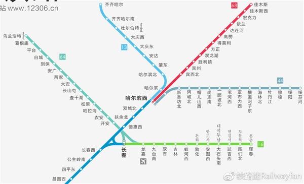 中国高铁线路图2019年1月版实用线路大图